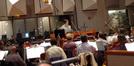 Orchestrator Andrew Kinney and scoring mixer Jeff Vaughn