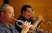 Trumpet players Jon Lewis and Rick Baptist