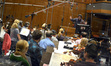 Composer Christopher Lennertz conducts the orchestra on <i>Horrible Bosses</i>