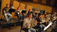 The French horns record a cue