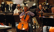 Cellist Anthony Cooke and the cello section