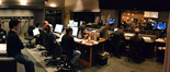 Director Rob Marshall (left) observes as Hans Zimmer and his team record the score to <i>Pirates of the Caribbean: On Stranger Tides</i>