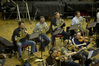 The French horns and violins