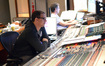 Recording engineer Justin Moshkevich and stage recordist Tom Hardisty