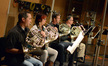 The French horns: Phil Yao, Laura Brenes, Steve Becknell, and Mark Adams