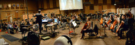 Composer and conductor Fil Eisler is ready to record with the orchestra