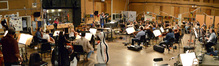 The orchestra records a cue for ABC's <i>Revenge</i> under the baton of composer and conductor Fil Eisler