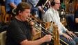 Steve Holtmand and Alex Iles on trombone