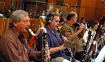 John Mitchell, Don Markese, and Mike Vaccaro on woodwinds