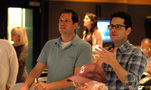 Producer Bryan Burk, director J.J. Abrams and composer Michael Giacchino listen - and react - to the finale cue for the first time (2 of 4)