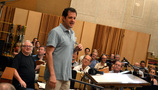 Michael Giacchino talks with the orchestra