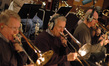 Andy Malloy, Bill Booth and Alex Iles on brass