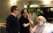Director Christopher McQuarrie, composer Joe Kraemer and music editor John Finklea