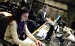 Technical music assistant Alexandra Apostolakis and ProTools recordist Vinnie Cirilli at work