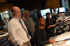 Director Todd Graff, orchestrator Brad Dechter (rear) and composer Mervyn Warren