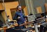 Mervyn Warren conducts one of his cues on <i>Joyful Noise</i>