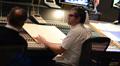 Composer John Powell talks with scoring mixer Shawn Murphy