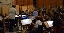 Violinist Bruce Dukov addresses the second violin section