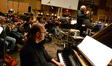 Randy Kerber plays piano as John Williams conducts