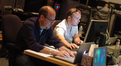 Music editor Pete Myles and additional music composer Bryce Jacobs
