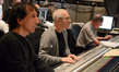 Orchestrator Jeff Atmajian, composer James Newton Howard, and scoring mixer Shawn Murphy