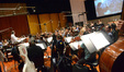 Composer/conductor Laurent Eyquem and the Hollywood Studio Symphony record a cue from <i>Copperhead</i>