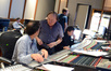 Orchestrator Jeff Atmajian and music supervisor David Franco discuss the score as scoring mixer Sylvain Lefebvre works