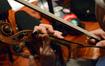 A violinist goes over fingerings