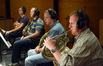 The French horns: Gregory Roosa, Allen Fogle, Mark Adams, and Jim Thatcher