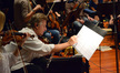Violinist Bruce Dukov makes an edit to his part