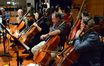 The cello section: Kim Scholes, Cecilia Tsan, Steve Erdody, and Dennis Karmazyn