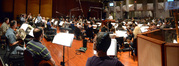 The view from the French horn section as the Hollywood Studio Symphony performs on <i>Copperhead</i>