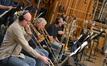 Trombonists Alex Iles, Charlie Loper and Bill Reichenbach