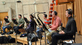 The French horns: Phil Yao, Dylan Hart, Jenny Kim, Daniel Kelley, Mark Adams and Steve Becknelll