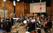 Conductor Nick Glennie-Smith and the strings record a cue from <i>G.I. Joe: Retaliation</i>