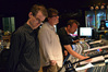 Orchestrator Andrew Kinney, scoring mixer Alan Meyerson, and composer Henry Jackman