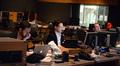 Scoring assistant Frank Garcia, music editor Daniel Pinder, and ProTools recordist Kevin Globerman