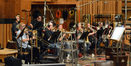 Caption: The brass section: trumpets - Daniel Rosenboom and Rick Baptist; trombones - Phil Keen, Alex Iles, Steve Holtman, Bill Reichenbach, and Phil Teele; tuba - Doug Tornquist