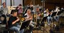 The brass section: trumpets - Dan Fornero, Wayne Bergeron, and Tony Ellis; trombones - Charlie Morillas, Andrew Martin, Phil Keen, and Steve Trapani; Tuba - Gary Hickman