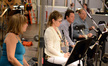 The woodwind section: flutist Geri Rotella, English hornist Leslie Reed, clarinetist Stuart Clark, and bassoonist Kenneth Munday