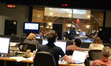 The view from the booth during the <i>Grudge Match</i> scoring sessions