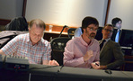 Scoring consultant David Connor, composer Michael Andrews, director Paul Feig, and music editor Manish Raval