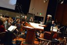 Conductor and orchestrator Tom Calderaro with the Hollywood Studio Symphony