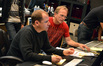 Digital score recordist Kevin Globerman and scoring mixer Jeff Vaughn