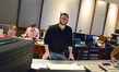 Composer Matthew Margeson listens as a cue is recorded