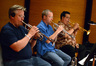 The trumpets: David Washburn, Jon Lewis, and Rick Baptist