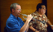 Trumpet players Jon Lewis and Rick Baptist