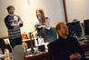 Director Jason Reitman, film editor Dana Glauberman, ProTools recordist Ryan Robinson, and composer Rolfe Kent