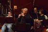 Concertmaster Sid Page asks a question
