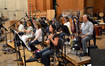The woodwinds: (front row) flutists Heather Clark & Geri Rotella, oboists Leslie Reed & Bernadette Avila; (back row) clarinetists Ralph Williams & Gary Bovyer, and bassoonists Rose Corrigan & Kenneth Munday